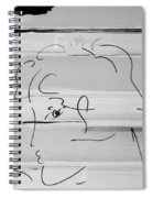 Max Women In Black And White Spiral Notebook