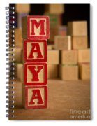 Maya - Alphabet Blocks Spiral Notebook