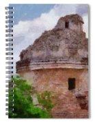 Mayan Observatory Spiral Notebook