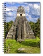 Mayan Temple At Tikal Spiral Notebook
