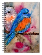 Maybe She's A Bluebird Cropped Spiral Notebook