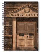 Mayberry Courthouse Spiral Notebook