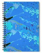 Mayfly Abstract Blue Spiral Notebook
