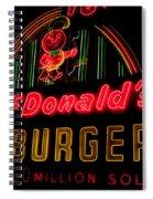 Mcdonalds Sign Spiral Notebook