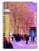 Mcgill Campus Eager Students Enter Roddick Gates Montreal Collectible Art Prints Carole Spandau  Spiral Notebook