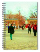 Mcgill Univ Students And Faculty College Campus Montreal Memories Collectible Art Prints C Spandau Spiral Notebook