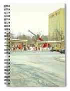 Mcgill University Campus Sherbrooke Street Scene Early Morning Winter Day Montreal Carole Spandau Spiral Notebook