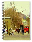 Mcgill University Roddick Gates Class Of 2013 Winter Semester Montreal Collectible Prints C Spandau Spiral Notebook
