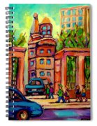 Mcgill University Roddick Gates Montreal Spiral Notebook