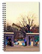 Mcgill University The Night Shift Arrives Sherbrooke Downtown Montreal Scenes Carole Spandau  Spiral Notebook