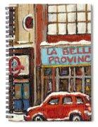 Mcleans Irish Pub Montreal Spiral Notebook