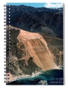Aerial Of Mcway Landslide Big Sur California 1984 Spiral Notebook