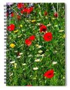 Meadow Flowers - Digital Oil Spiral Notebook