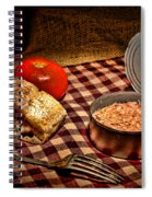 Meager Lunch Spiral Notebook