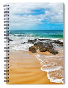 Meandering Waves On Tropical Beach Spiral Notebook