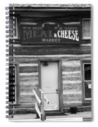 Meat And Cheese Market Black And White Spiral Notebook