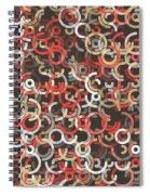 Mechanic Geometric Circle Segment Pattern Spiral Notebook