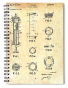 Medical Syringe Patent 1954 Spiral Notebook