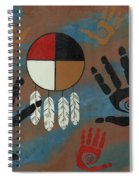 Medicine Wheel Healing Spiral Notebook