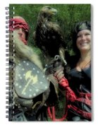 Medieval Barbarian Couple Spiral Notebook