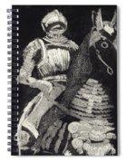 Medieval Knight On Horseback - Chevalier - Caballero - Cavaleiro - Fidalgo - Riddare -ridder -ritter Spiral Notebook
