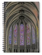 Medieval Stained Glass Spiral Notebook