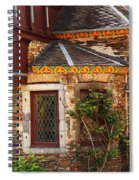 Medieval Window And Rose Bush In Germany Spiral Notebook