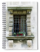 Medieval Window With Iron Grilles Spiral Notebook