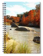 Fall Cypress At Bandera Falls On The Medina River Spiral Notebook