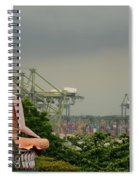 Meditating Buddha Views Container Seaport Singapore Spiral Notebook
