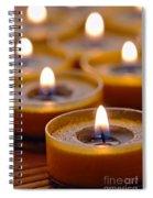 Meditation Candles Path Spiral Notebook