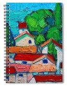 Mediterranean Roofs 1 2 3 Spiral Notebook