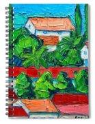 Mediterranean Roofs 2 3 4 Spiral Notebook