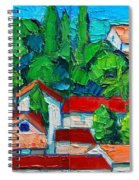 Mediterranean Roofs 2 3 Spiral Notebook