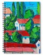 Mediterranean Roofs 3 4 Spiral Notebook
