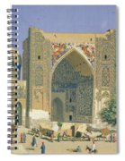 Medrasah Shir-dhor At Registan Place In Samarkand, 1869-70 Oil On Canvas Spiral Notebook