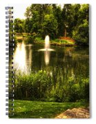 Meet Me By The Fountain Spiral Notebook