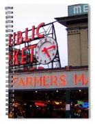Meet Me In Seattle Spiral Notebook