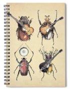 Meet The Beetles Spiral Notebook