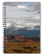 Meeting Of The Mountains And Desert Spiral Notebook