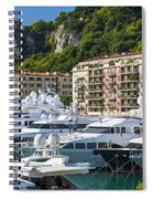 Mega Yachts In Port Of Nice France Spiral Notebook