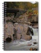 Meigs Falls In Autumn Spiral Notebook