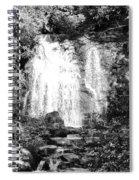 Meigs Falls Smoky Mountains Bw Spiral Notebook