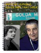 Meir Quote Spiral Notebook