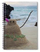 Mele Kalikimaka Merry Christmas From Paako Beach Maui Hawaii Spiral Notebook