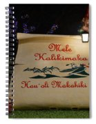 Mele Kalikimaka Sign And Elves Spiral Notebook