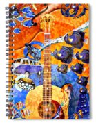 Melodies And Sunset Seas Spiral Notebook