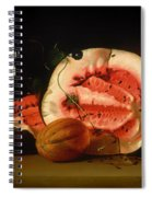 Melon And Morning Glories Spiral Notebook