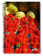 Melons And Strawberries Spiral Notebook