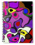 Melted Rubiks Cube 2 Spiral Notebook